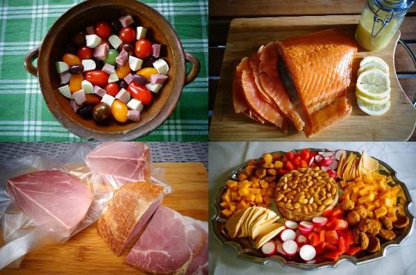 Röka kött och fisk - nya rätter som rökt najadlax och rökt hel skinka.